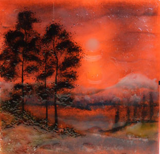 Fused Glass Landscape by Ambiente Art Glass
